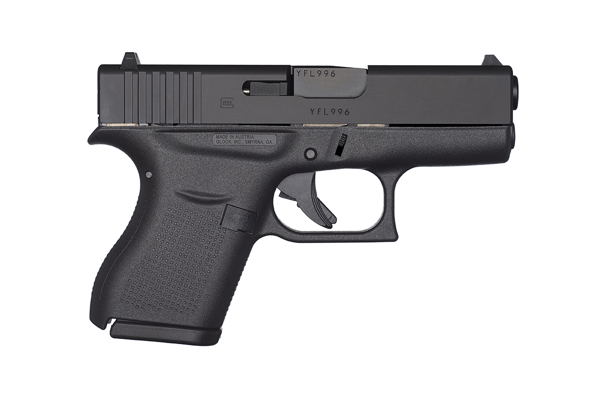 Right side of Glock 43 subcompact 9mm.