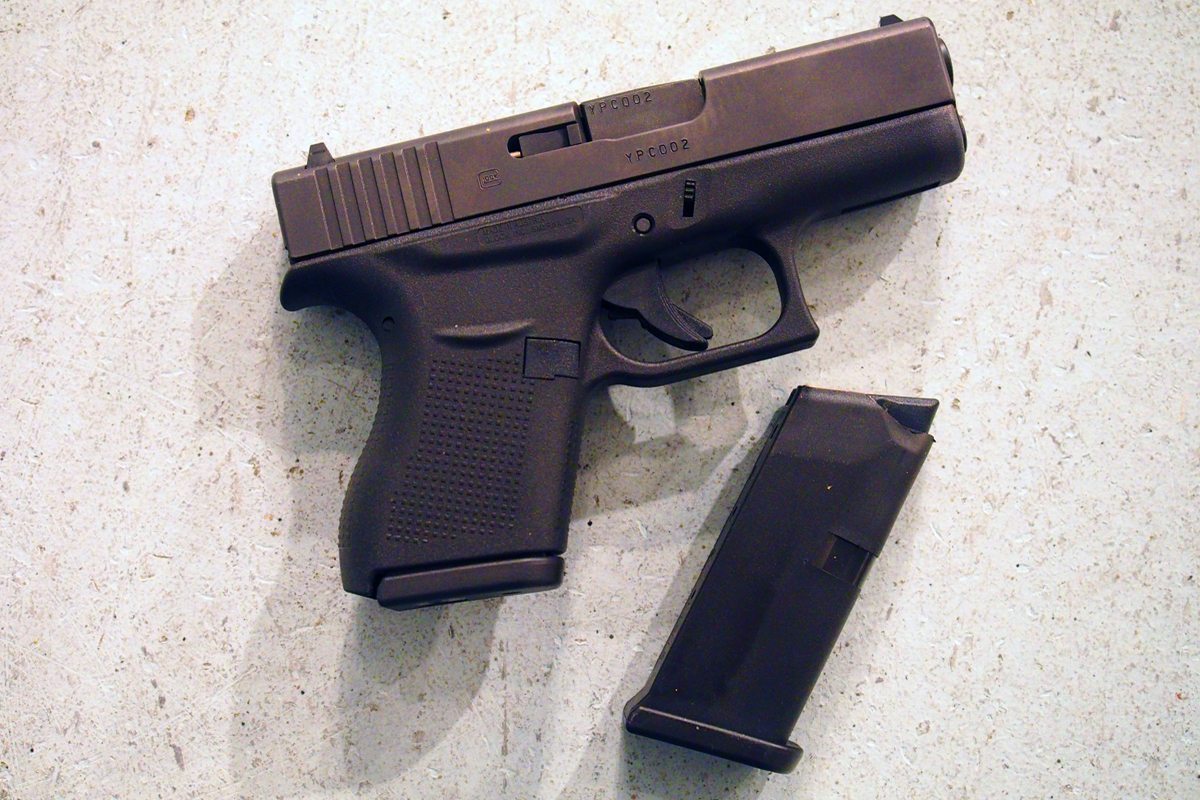 Glock 43 with empty mag.