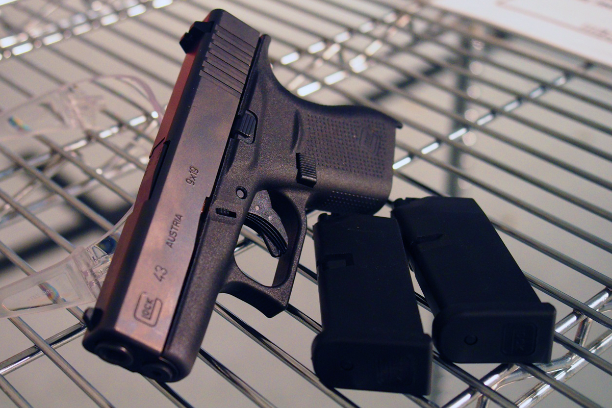 Glock 43 with two mags.