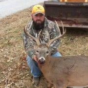 NC hunter Chuck Rorie and his 8-point doe