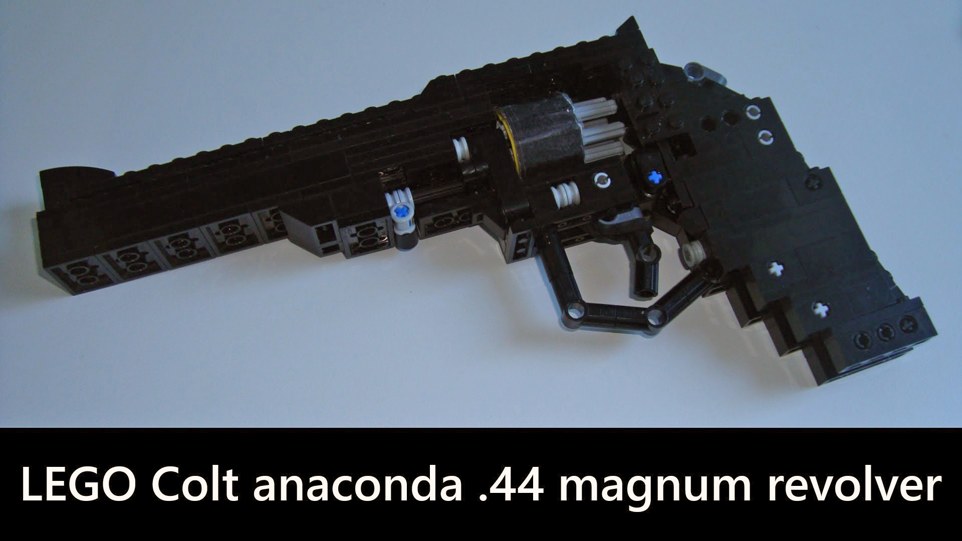 A Lego Revolver That Really Shoots!