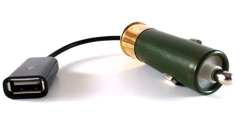 Twelve Gauge Charger: A 12 Volt Phone Charger – Made From a Shotgun Shell!