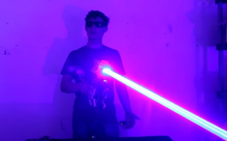 Video: Putting a Homemade 40W Laser Shotgun to the Test!