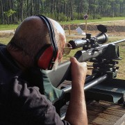 Savage Model A17 17 HMR Semi-Automatic Rifle Being Fired
