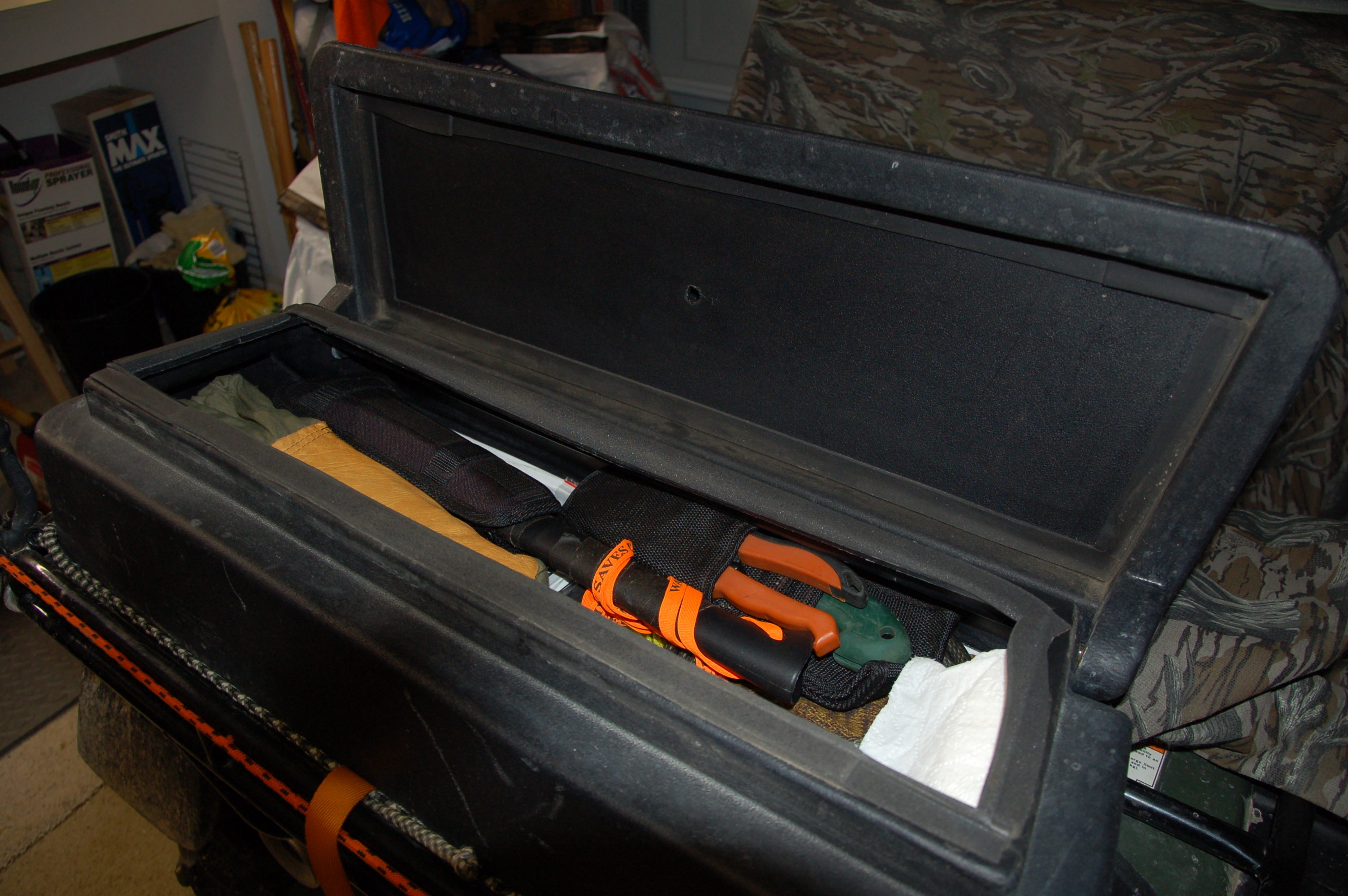 Carry Survival Gear in ATV Gear Boxes