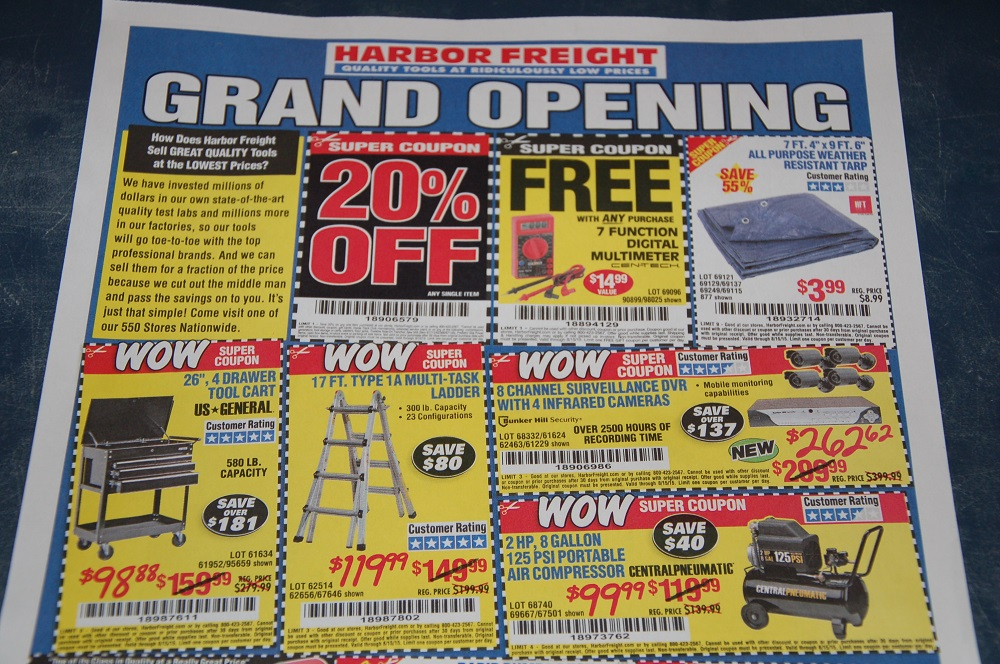Harbor Freight Prepping