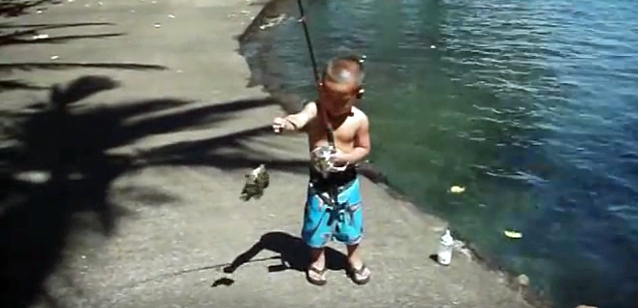 Video: Super-Young Fisherman Can Catch – But Can He Release?