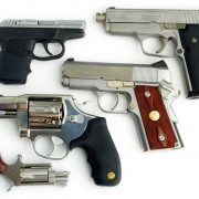 A former girlfriend's selection of carry guns. (By Oleg Volk.)