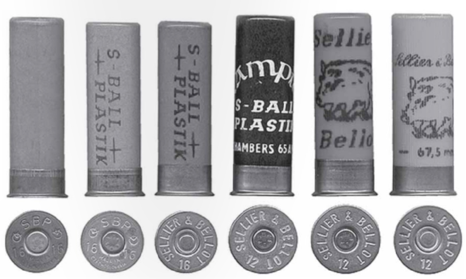 A selection of S-Plastic shells in 16 and 12 gauge.