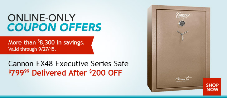 Deal Alert: $799.99 For a Cannon EX48 Executive Series Safe