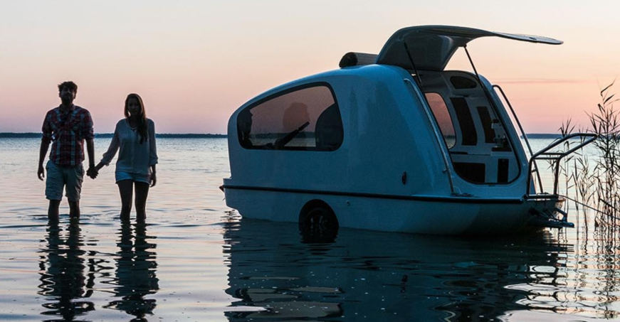 Sealander: Hybrid Travel Trailer and Boat Combo (Videos)