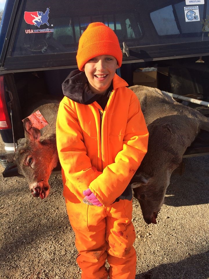 One Shot, Two Kills. And it Was His First Deer Hunt!