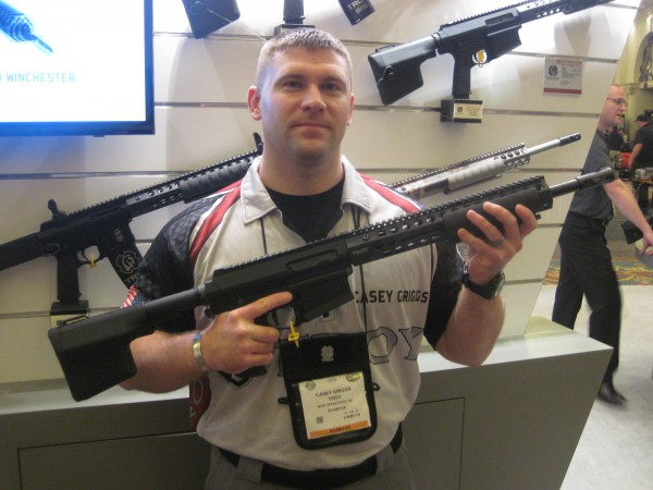 Troy Defense New Pump Action Rifle at the 2016 SHOT Show