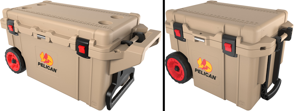 Pelican Elite 80 and 45 quart wheeled coolers