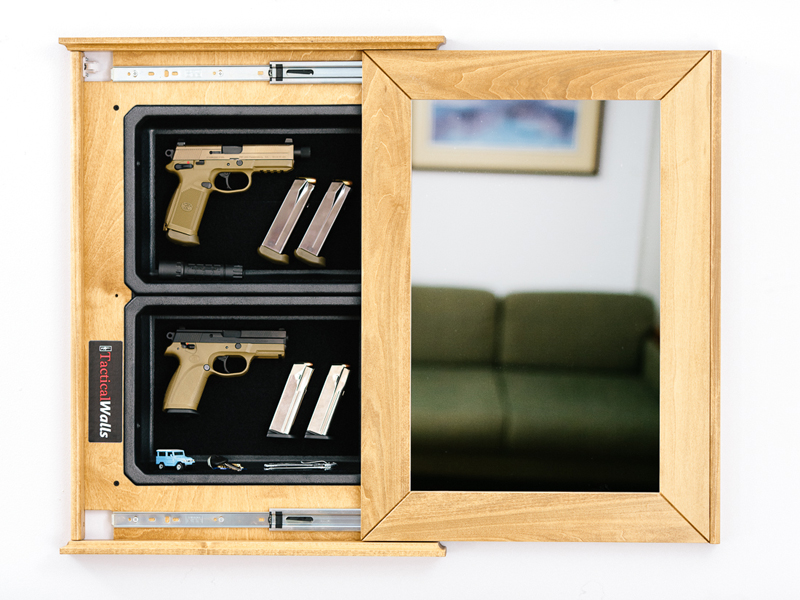 Tactical Walls In Wall Secret Secure Gun Storage.