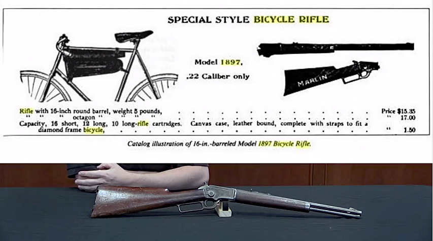 Marlin 1897 Lever Action Bicycle Rifle (Video)