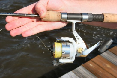 bailing out a quick fix for re rigging a spinning rod and reel