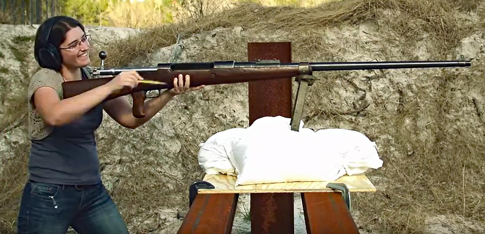 Watch: Woman Fires a Shoulder-Mounted Anti-Tank Rifle
