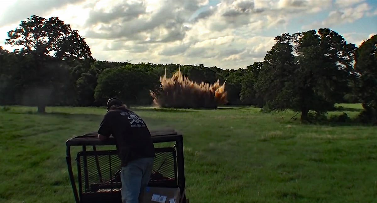 425 pounds of Tannerite + PVC = BIG Boom! (Video)