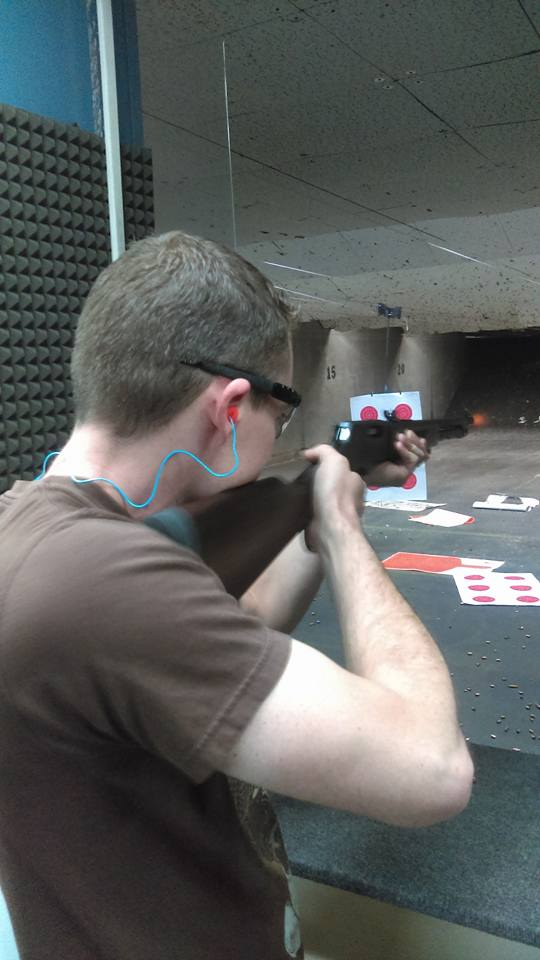 My opinionated brother. I was glad I got the muzzle flash.