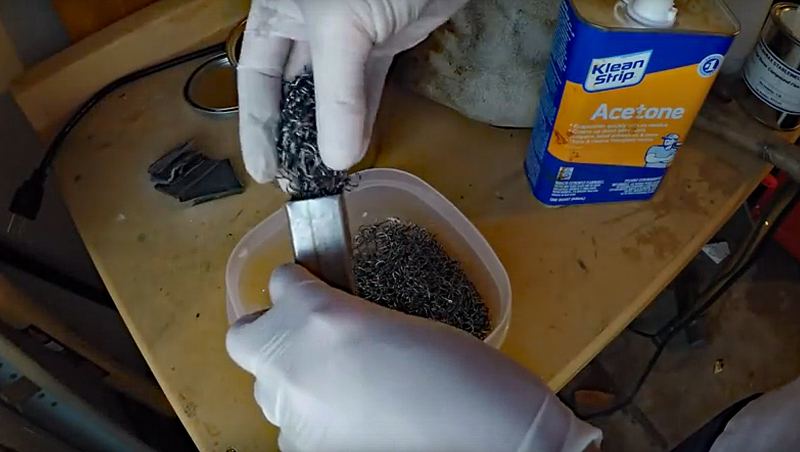 Watch: Making a Knife Out of 2,200 Fish Hooks