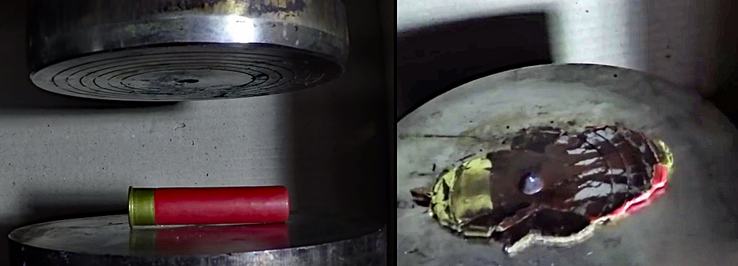 Watch: Smooshing Ammunition in a Hydraulic Press