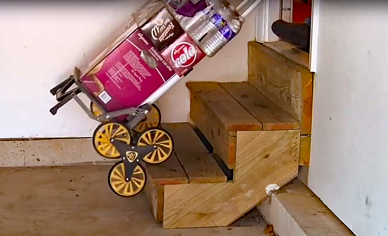 Watch: UpCart All-Terrain Stair Climbing Hand Truck