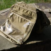 Removable flap with map pocket