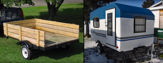 Watch: Guy Builds Homemade Travel Trailer From Scratch - AllOutdoor