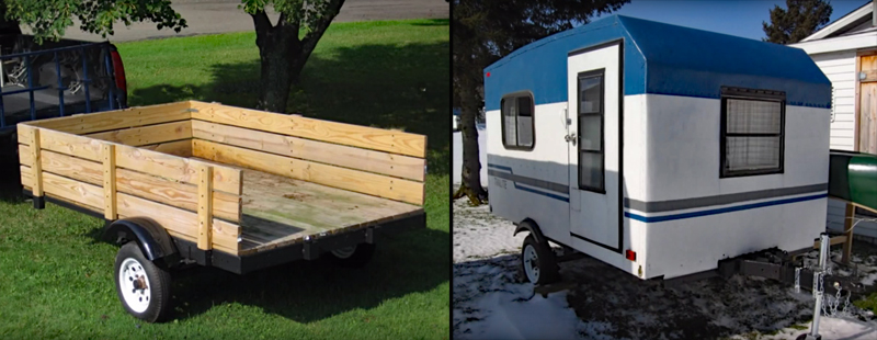 Watch: Guy Builds Homemade Travel Trailer From Scratch