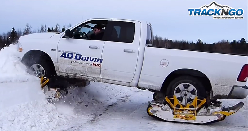 Watch: Track N Go Turns Trucks Into Snowmobiles