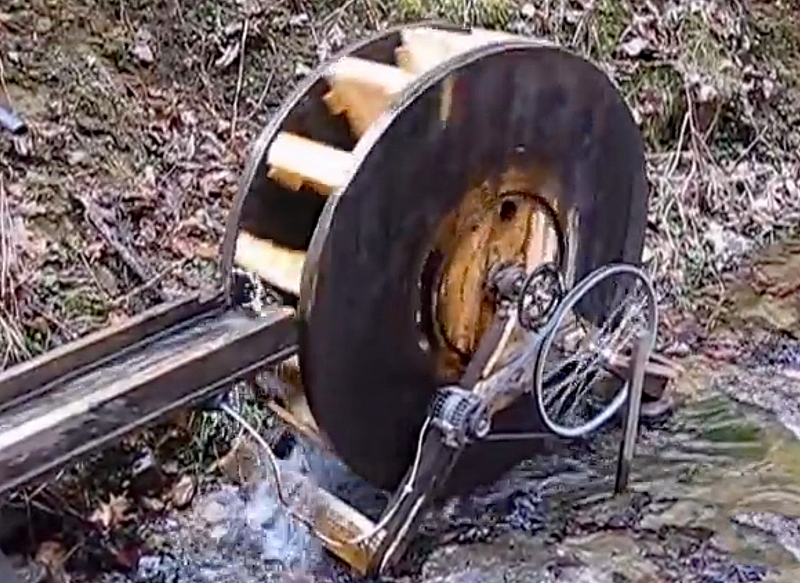 Watch: Off-the-Grid Water Wheel Generator in Kentucky