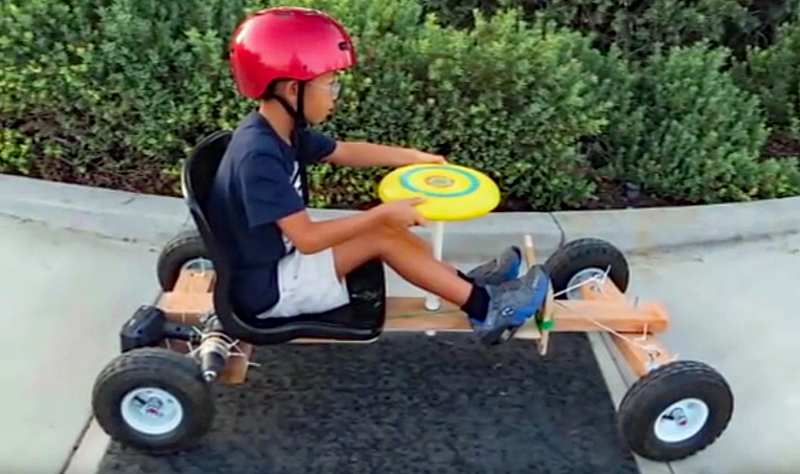 Watch: Build a DIY Go-Cart Powered by a Cordless Drill