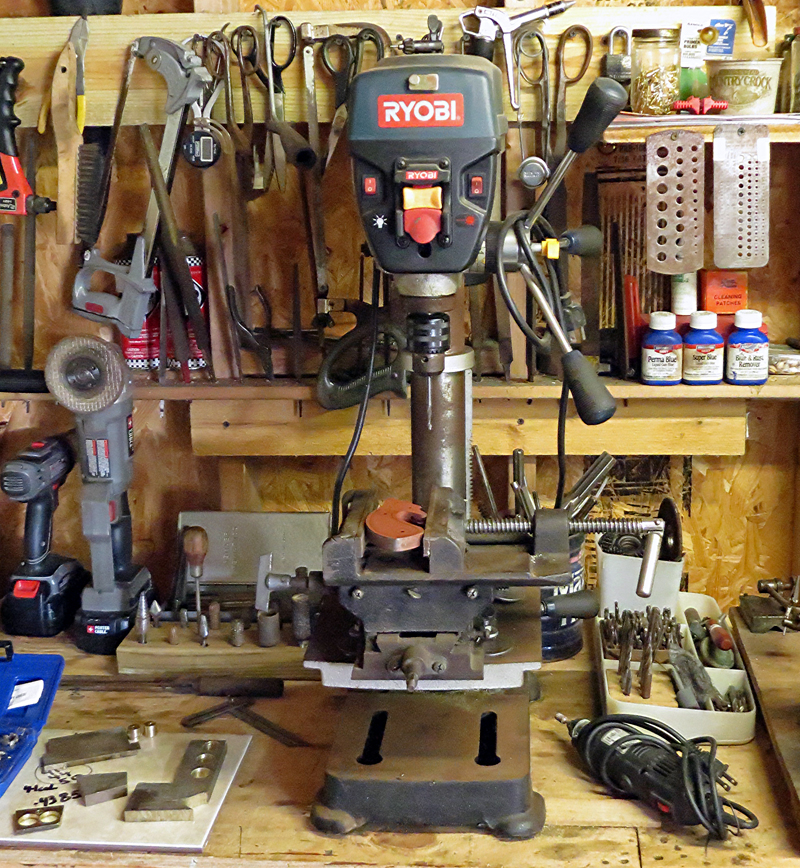 Drill press with mill table. Photo © Russ Chastain