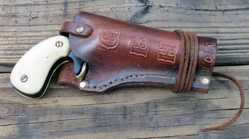 The HCA prototype rides in style in its custom-made holster. Photo © Russ Chastain