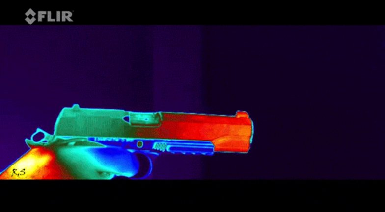 Watch: Thermal Camera Captured Pistol Firing