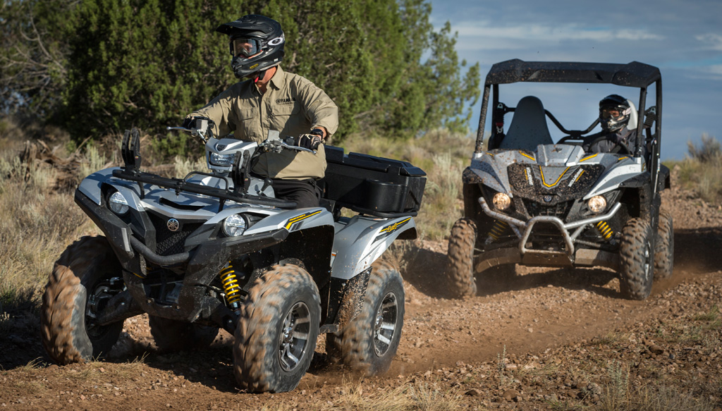 Yamaha Grizzly and Wolverine