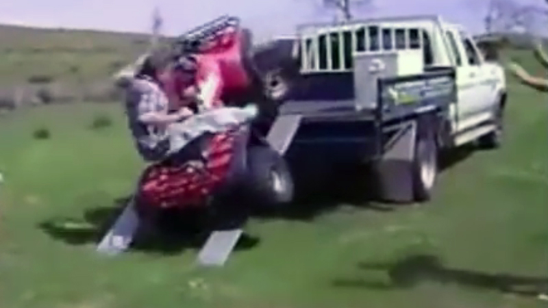 Video: How Not to Load/Unload Your ATV