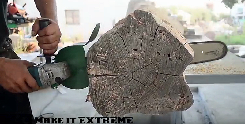 Watch: Convert an Angle Grinder Into a Chainsaw