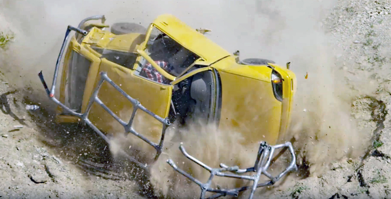 Video: Redneck Drives a Duct Tape Car off a Cliff! (Sort of)