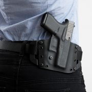 Great holster, needs a wider belt to fit the loops. Or smaller loops.
