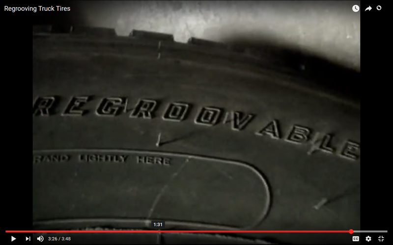 Watch: Cutting New Tread Grooves in a Tire