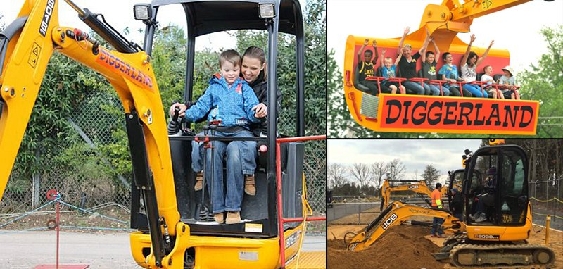 Watch: Diggerland, an Excavator/Earth Mover Theme Park