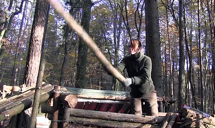 Watch: Hard-Working Woman Builds a Bugout Camp