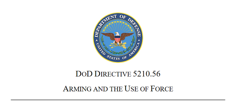 DoD Directive Lays Groundwork for Ending Gun-Free Zones on Base for Military Personnel