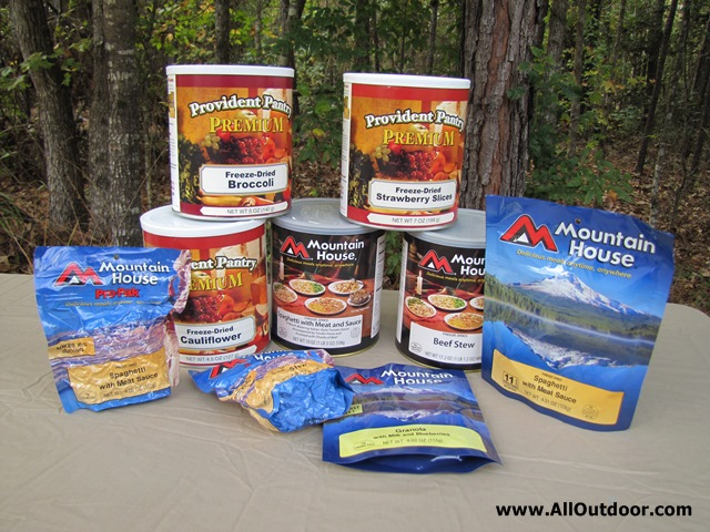 Stockpiling Freeze Dried Food