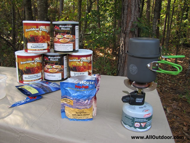 Preparing freeze dried foods