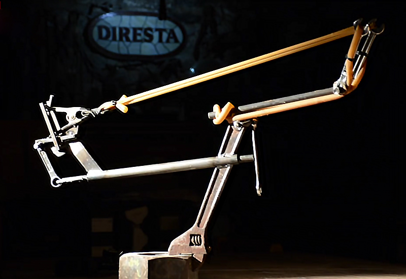 Watch: Homemade Trigger-Fired Slingshot Made of Scrap Steel and Wrenches