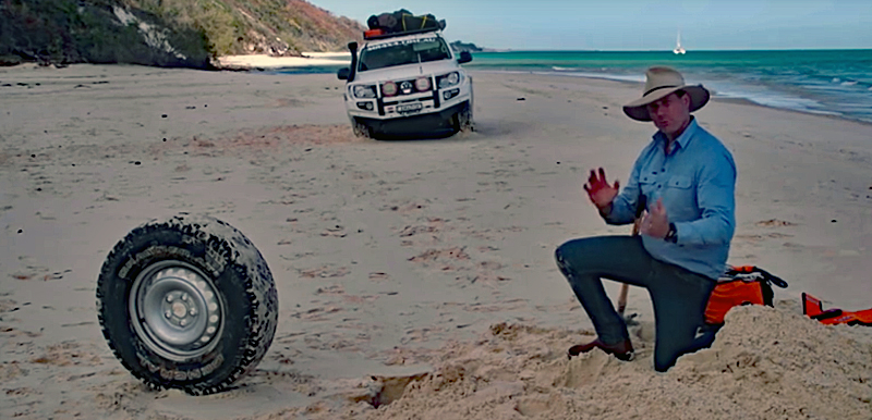 Watch: Emergency Sand Anchor for Getting Unstuck