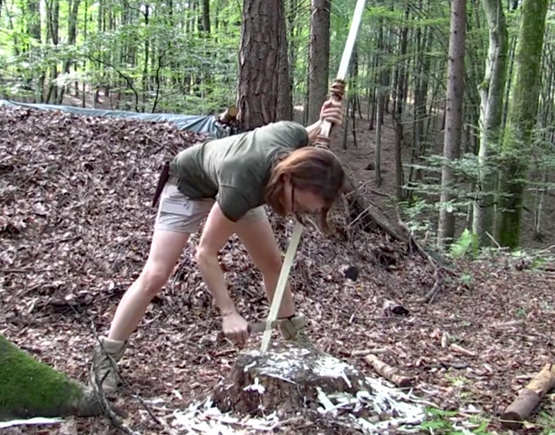 Watch: Making a Survival Bow With Only a Knife